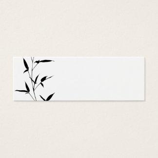Svart för mall för bambuSilhouettebakgrund tom Litet Visitkort