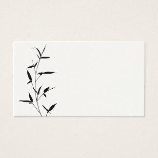 Svart för mall för bambuSilhouettebakgrund tom Visitkort