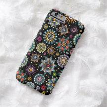 Svart för mönster för klotter för barely there iPhone 6 fodral