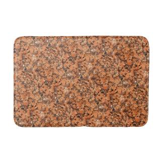 Svart för orange för mönster för prickig badrumsmatta