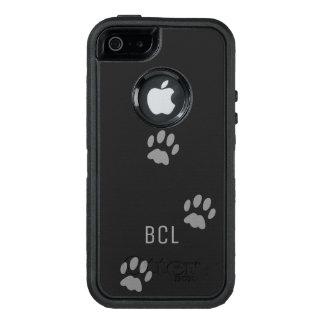 Svart för OtterBox för katttasstryck personlig OtterBox iPhone 5/5s/SE Fodral