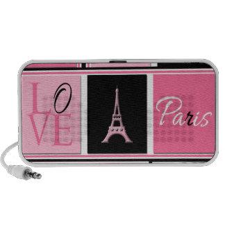 Svart för rosor för Paris Eiffel tornkärlek Minihögtalare