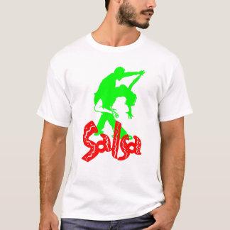 Svart för salsa T! T-shirt