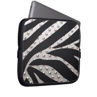 Svart/för silversebrametall för struktur laptop datorskydds fodral