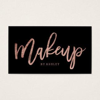 Svart för typografi för elegant för Makeupkonstnär Visitkort
