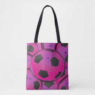 Svart fotbollar för rosor tygkasse