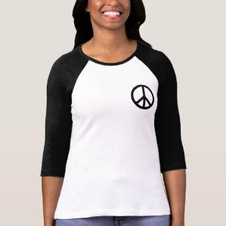 Svart fredsymbol t-shirt