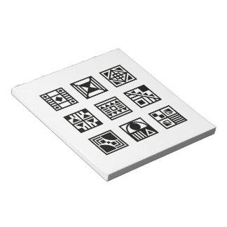 Svart geometrisk stam- mönsteranteckningsbok anteckningsblock