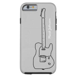 svart gitarr för personlig tough iPhone 6 case