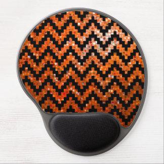 Svart glitter för Ikat sparre- och orangeFaux Gel Musmatta