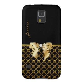 Svart & goldtone för Samsung galaxNexus fodral för Galaxy S5 Fodral