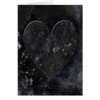 Svart gotiska valentin för hjärtanatthimmel dag hälsningskort
