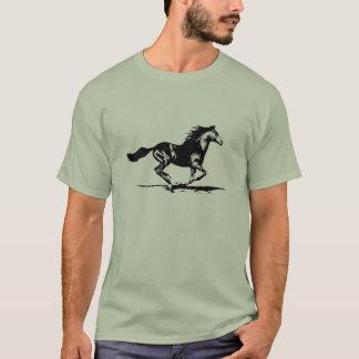 Svart grafisk hingsthäst tröja