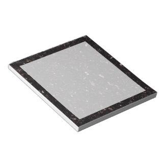 Svart granit anteckningsblock