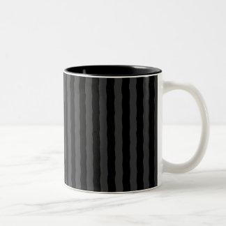 Svart grått görar randig kaffemuggen Två-Tonad mugg