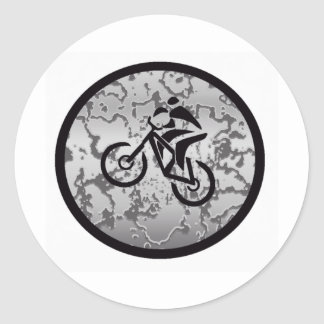 SVART GREYED för cykel Runt Klistermärke