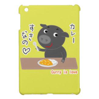 Svart gris av Chelsea kärlekcurry! iPad Mini Fodral