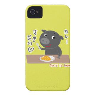 Svart gris av Chelsea kärlekcurry! iPhone 4 Skydd