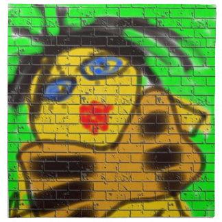 Svart grönt för målning för vägg för grafitti för tygservett