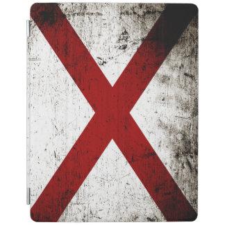 Svart GrungeAlabama statlig flagga iPad Skydd