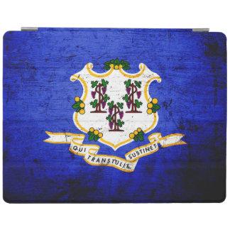 Svart GrungeConnecticut statlig flagga iPad Skydd