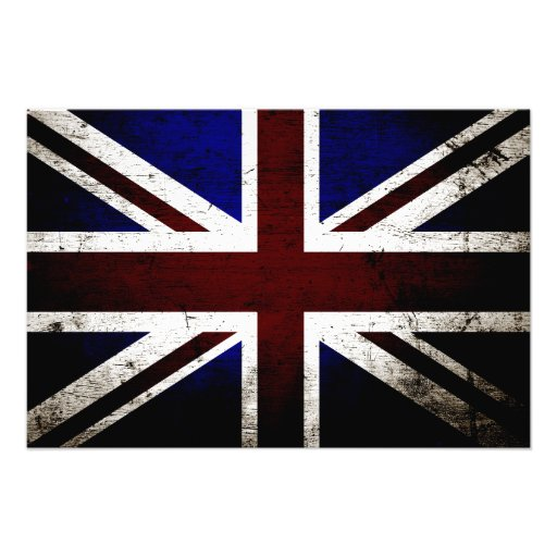 Svart GrungeEngland flagga Fotografier