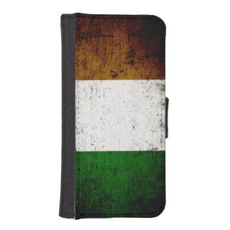 Svart GrungeIrland flagga iPhone SE/5/5s Plånboksfodral
