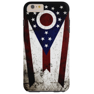 Svart GrungeOhio statlig flagga Tough iPhone 6 Plus Fodral
