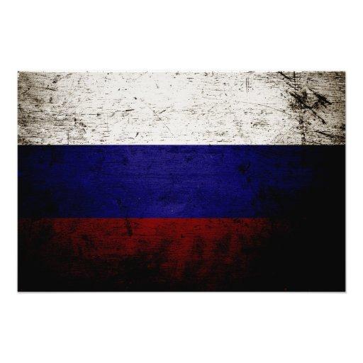 Svart GrungeRyssland flagga Fotografi