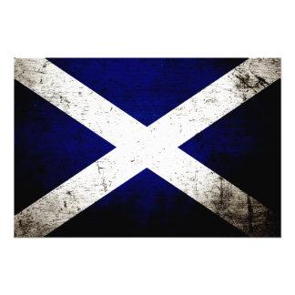 Svart GrungeSkottland flagga Foton