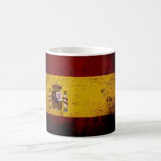 Svart GrungeSpanien flagga Kaffemugg