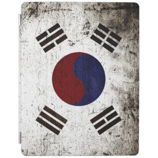 Svart GrungeSydkorea flagga iPad Skydd