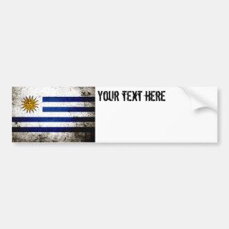 Svart GrungeUruguay flagga Bildekal