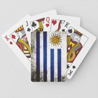 Svart GrungeUruguay flagga Spelkort