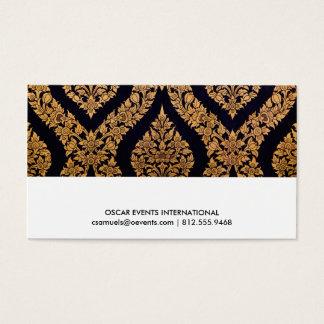Svart & guld- damastast traditionellt samtidat visitkort