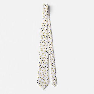 Svart guld- konfettiar slips