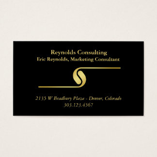 Svart guld- logotypavdelare visitkort
