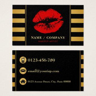 Svart guld- Makeupkonstnär för elegant Visitkort