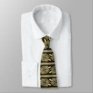 Svart guld- mönsterart décomanar tie slips