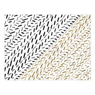 Svart guld- penseldrag för fauxglitterhand vykort