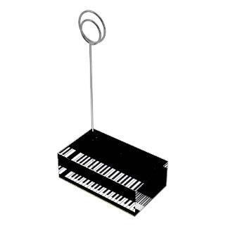 Svart guld- piano för adn som gifta sig bordskorthållare