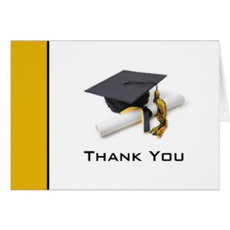 Svart & guld- studententackkort hälsningskort