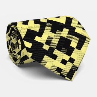 Svart- & gultmönster slips