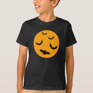 Svart Halloween t-skjorta med måne- och T Shirt