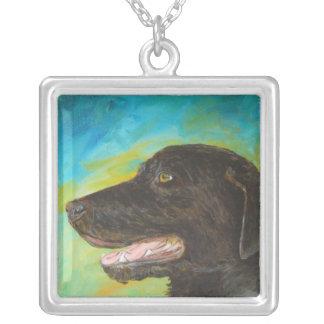 Svart halsband för Labrador älsklings-