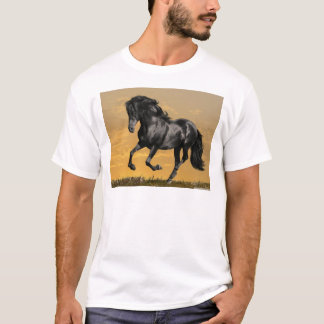 Svart häst t shirt