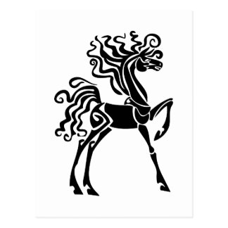 Svart häst vykort