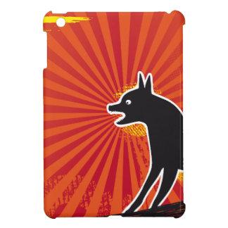 Svart hund iPad mini mobil fodral