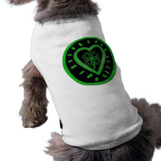 Svart hund tröja för hjärtaklöverst patrick's day