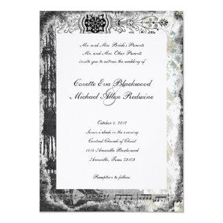 Svart inbjudan för bröllop för Paris Eiffel